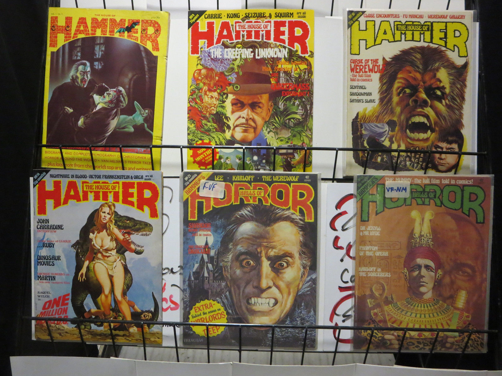 The House Of Hammer house of hammer and halls of horror magazine #1-22 lot of