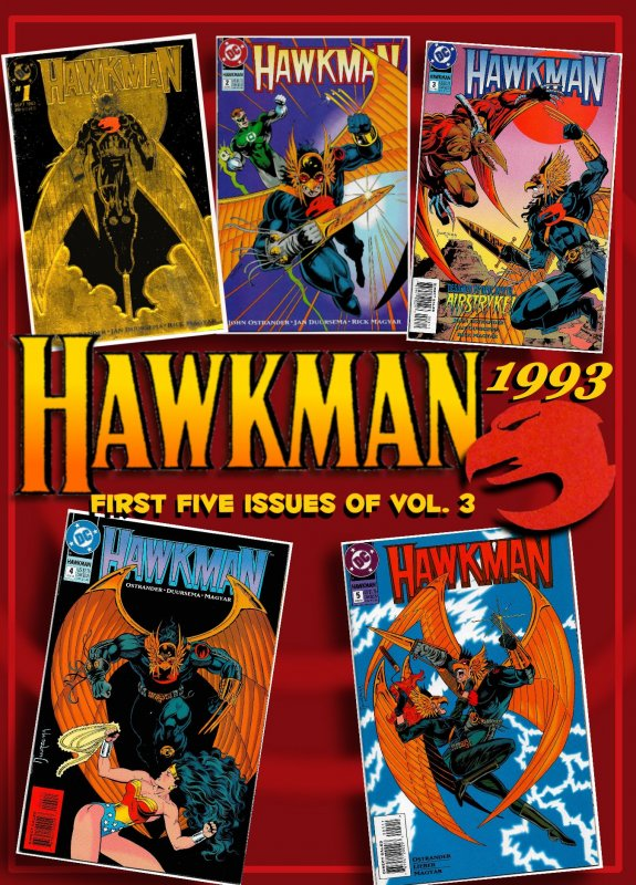 HAWKMAN Vol.3  #1- 5 (1993) 9.4 NM 1st 5 Issues  Hawkman Returns, But Who Is He?