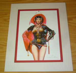 Chris Achilleos' Amazons Print: Starship Captain - signed bad girl art