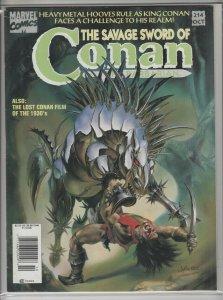 SAVAGE SWORD OF CONAN #214 F+ A01275