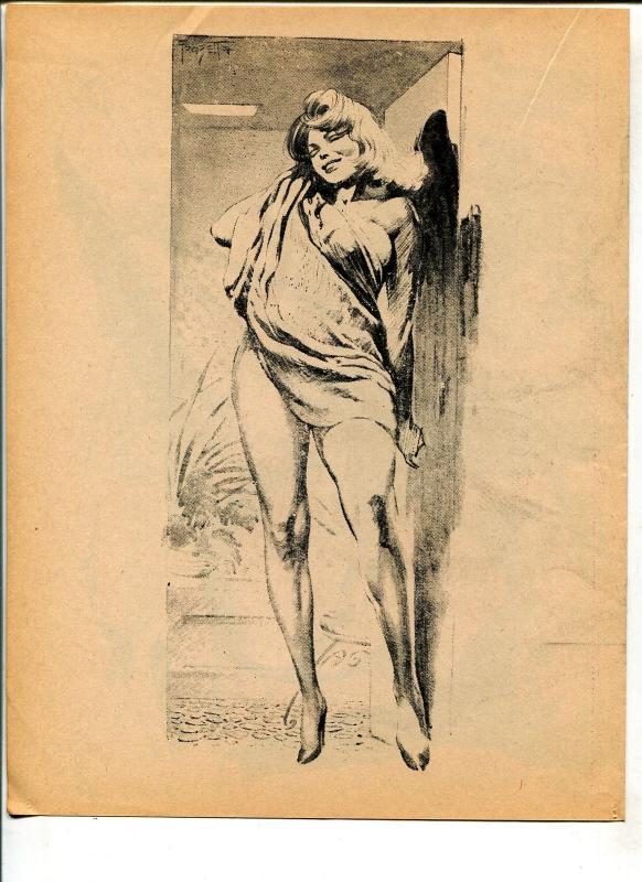 Captain George's Comic World #15 1970's-Spicy Frank Frazetta pin-up girl art-FN