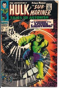 Tales to Astonish Incredible Hulk/Sub-Mariner #97 Nov. 1967 (VG)