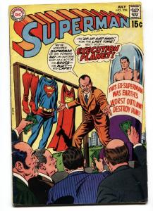 SUPERMAN #228-1970-JUL-SUPERMAN CAPTURE-BIDS FOR CLOTHES