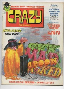CRAZY #1 Magazine, FN+, Neal Adams, Bode, 1973, Kung-Fu, more in store