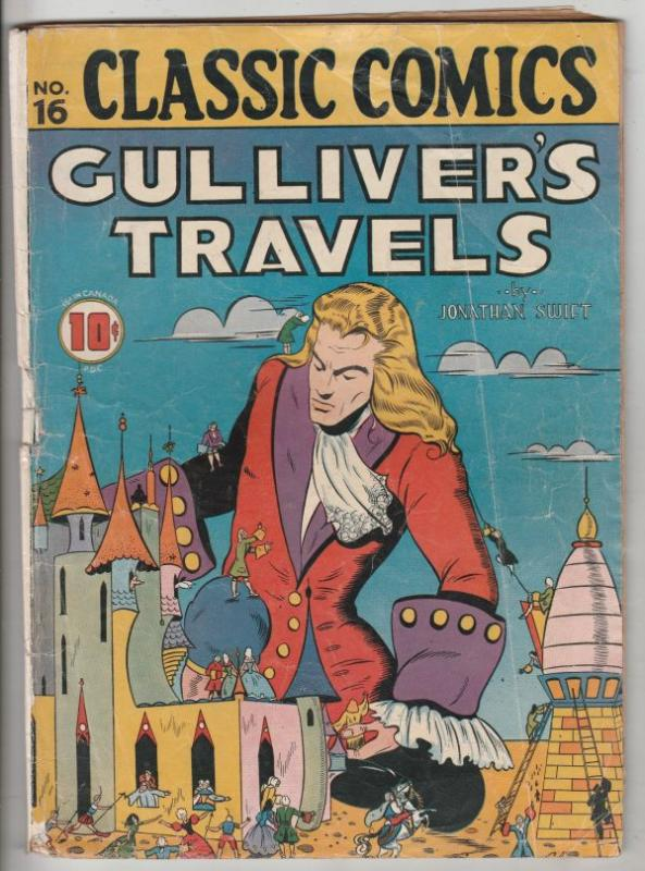Classic Comics #16 (Dec-43) VG- Affordable-Grade Gulliver