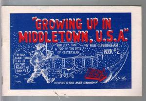Growing Up In Middletown, U.S. A. #2  1982-Bob Cunningham-comic art-FN/VF