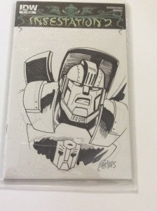INFESTATION TRANSFORMERS: #1 RI  MEGATRON SKETCH VARIANT  ULTRA RARE