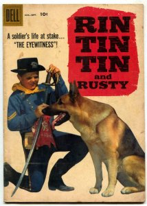 Rin Tin Tin and Rusty #26 1958-Dell-photo cover- German Shepherd VG