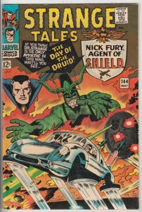 Strange Tales #144 (May-66) NM- High-Grade Nick Fury, S.H.I.E.L.D., Dr. Strange