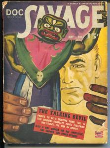 Doc Savage  5/1943- The Talking Devil-Bill Barnes-Cap Fury-hero pulp-VG