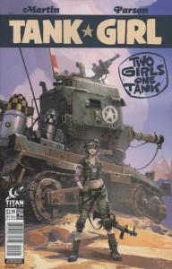 TANK GIRL #4 B, NM, Two Girls One Tank, IDW Comics  2016