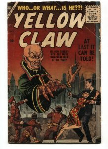Yellow Claw #1 1st appearance 1956- Maneely- Feldstein- comic book