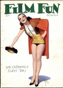 Film Fun December 1932- Enoch Bolles matador cover VG+