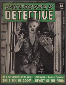 Uncensored Detective #3 8/1942-basement crypt-WWII era-pulp crime-VF