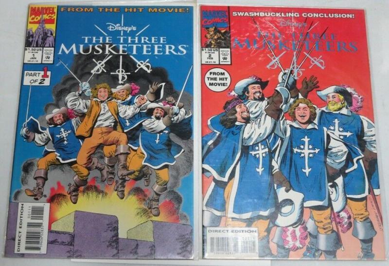 THREE MUSKETEERS (1994) 1-2 adaptation of Disney movie