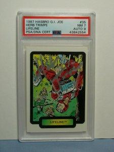 1987 Hasbro G.I. Joe Card #35 Lifeline AUTOGRAPHED HERB TRIMPE PSA/DNA LEGEND!!