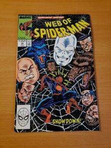 Web of Spider-Man #55 Direct Market Edition ~ NEAR MINT NM ~ (1989 Marvel)