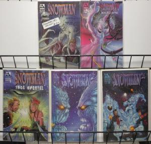 SNOWMAN Lot of 5 comics books Avatar Press VF-NM B&B Matt Martin 1997-1999