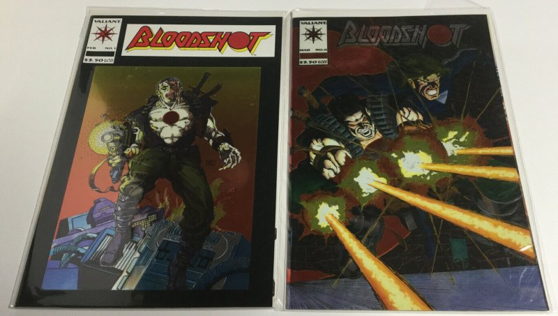 Bloodshot 0 1-4 7-51 Last Stand Yearbook Nm Near Mint Valiant Comics