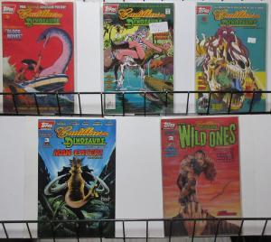 Cadillacs and Dinosaurs (Topps 1994) #2 3 6 8 Roy Thomas Giordano Peak 90s!