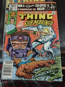 MARVEL TWO IN ONE # 81  1982 MARVEL THE THING+ SUB-MARINER MODOK