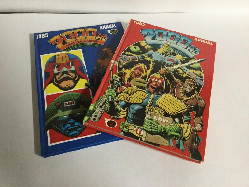 2000AD Annual 1982 1985 Lot Oversized HC Hardcover B17