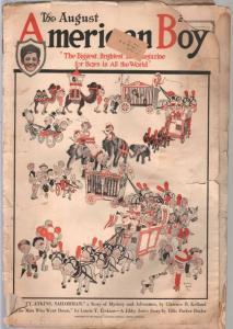 American Boy1/1921-John Held Jr cover-adventure-pulp fiction-bike ads-FR