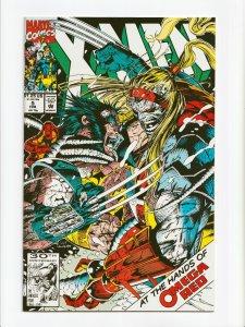 X-Men #5 2nd Omega Red 1st Appearance Maverick Marvel Comics 1992 NM+