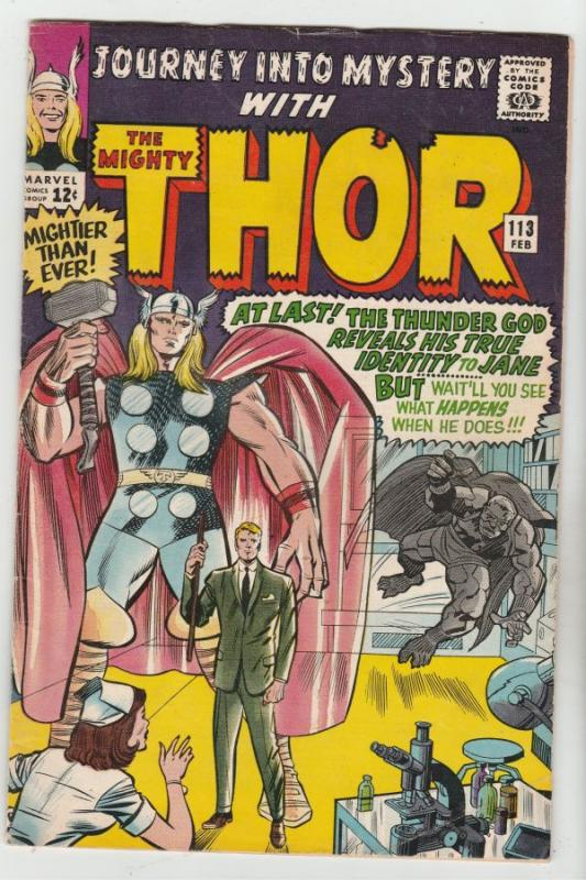 Journey into Mystery #113 (Feb-65) FN- Mid-Grade Thor