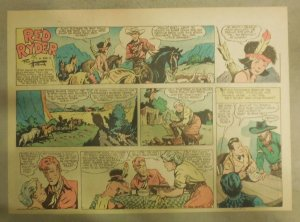 Red Ryder Sunday Page by Fred Harman from 3/1/1942 Half Page Size!