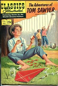 Classics Illustrated #50 Fall 1969-Gilberton-Adventures of Tom Sawyer-HRN 169-VF