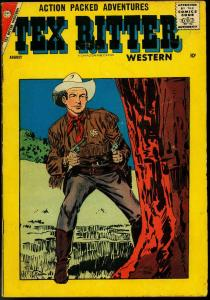 TEX RITTER WESTERN #42 1958 CHARLTON COMICS B-WESTERN VG