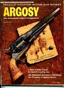 Argosy 9/1956-Popular-WWII-pulp thrills-cheesecake pix-prohibition-VG