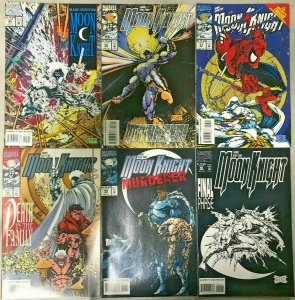 MOON KNIGHT#55-60 VF/NM LOT 1993 STEPHEN PLATT ART MARVEL COMICS