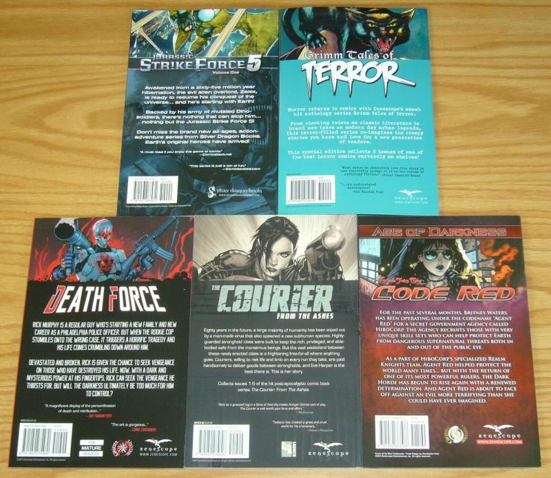 Lot of (5) Zenescope TPBs - grimm fairy tales - jurassic strike (value: $75.95)