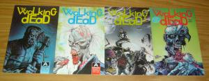 the Walking Dead #1-4 VF/NM complete series - aircel comics - zombies 2 3 set