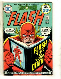 Flash # 227 FN- DC Comic Book SIGNED By Julius Schwartz Batman Superman J371