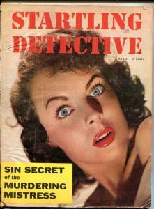 STARTLING DETECTIVE-MARCH 1954-SPICY-MURDER-VICE-SEX-RAPE-MASSACRE-good G