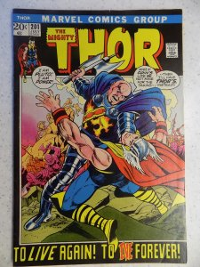 THE MIGHTY THOR # 201 MARVEL GODS JOURNEY ACTION ADVENTURE