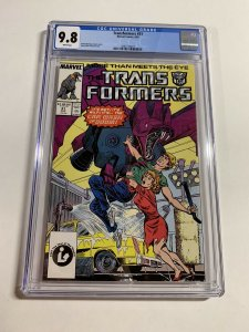 Transformers 31 Cgc 9.8 White Pages Marvel 1987