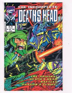 The Incomplete Deaths Head #3 VF/NM Marvel Comics Comic Book Mar 1993 DE45