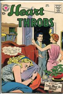 HEART THROBS #57 1959 DC-ROMANCE-LOVE MUST BE BLIND VG