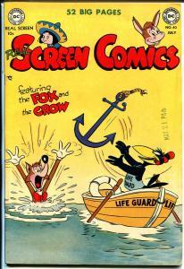 Real Screen Comics #40 1951-DC-Fox & Crow-high grade copy-VF+