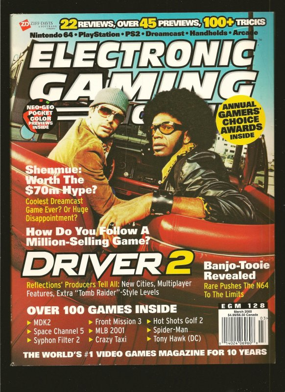 Electronic Gaming Monthly Magazine #128 March 2000