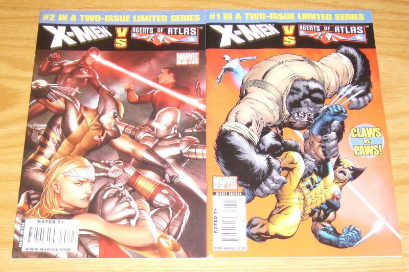 X-Men vs. Agents of Atlas #1-2 complete series - marvel comics wolverine set lot