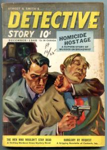 Detective Story Pulp December 1940- Men Who Wouldn't Stay Dead