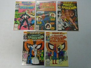 What If? lot 9 different Spider-Man issues avg 7.0 FN VF