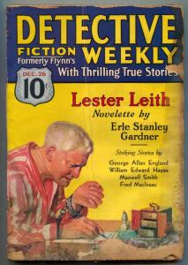 Detective Fiction Weekly Pulp December 26 1931- Lester Leith