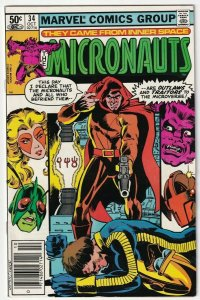 The Micronauts #34 October 1981 Marvel Comics
