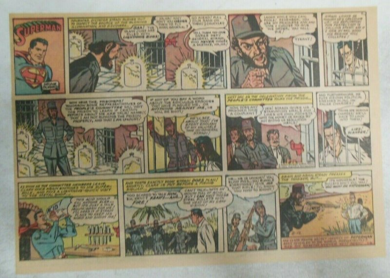 Superman Sunday Page #1113 by Wayne Boring from 2/12/1961 Size ~11 x 15 inches